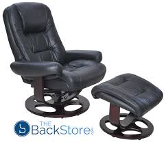 barcalounger jacque ii leather recliner and ottoman black