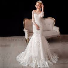 aliexpress com buy luxury vintage long sleeve lace wedding gowns