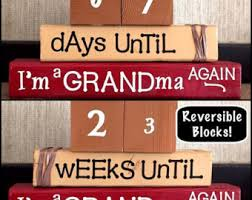 Word Blocks Home Decor The Best Aunts Get Promoted To Great Aunts Baby Reveal Wood