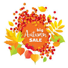 autumn foliage vector sale banner for wedding decoration sales