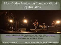Miami Video Production Regulus Video Production Company Miami