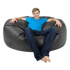 xxxl bean bag monster double faux leather black giant bean bags