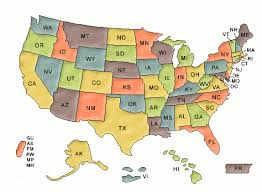 us map clipart 93069