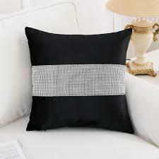 Modern Cushions For Sofas Cushions Design Black Quality Stylish Velvet Cushion