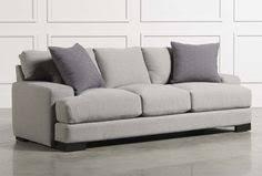egan sofa w reversible chaise egan ii cement sofa w reversible chaise grey living spaces