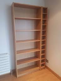 ikea billy bookcase in oak veneer plus bonus free cd rack in