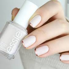 to bump up the typical french manicure opt for a base coat of a