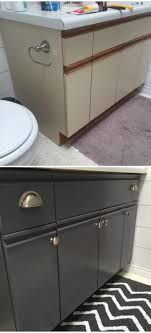 can you chalk paint laminate cabinets bathroom update how to paint laminate cabinets the