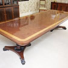 Baker Dining Room Table Baker Furniture English Regency Style Mahogany Dining Room Table