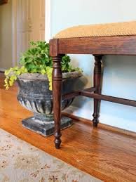 how to reupholster a sofa how to refinish and reupholster a bench hgtv