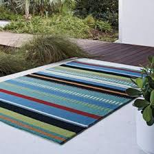 Striped Indoor Outdoor Rugs Desert Striped Indoor Outdoor Rug Blue The Company Store