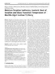 cuisine uilibr moisture sorption isotherms isosteric pdf available