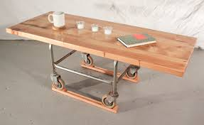 Rolling Coffee Table Detroit Remade Detroit Rolling Coffee Table