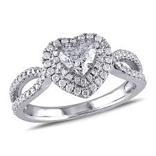 heart shaped engagement ring heart wedding zales