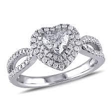 heart shaped engagement ring heart wedding zales