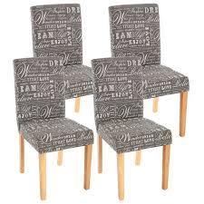 chaises s jour lot de 4 chaises de séjour littau tissu gris words fabric pieds