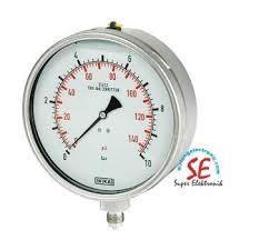 Jual Thermometer Wika jual pressure ukuran 4 inch pengukur tekanan fluida