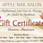 nail salon gift cards nail salon gift certificate template nail salon gift cards best nail