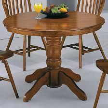 42 inch round pedestal table crown mark windsor solid dark oak round pedestal table lindy s