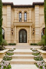 Tuscany Style Homes by Exterior Grand Entry Tuscan Style Home In Beverly Hills Via