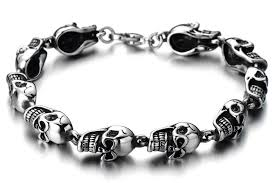 mens bracelet with skull images 2018 unisex skull bracelet for man for women cool mens bracelet jpg
