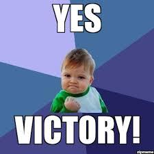 Yes Meme Baby - victory imgur