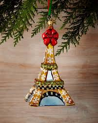 mackenzie childs eiffel tower ornament