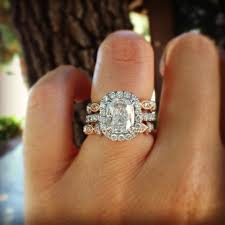 white gold engagement ring with gold wedding band best 25 wedding bands ideas on moissanite