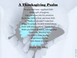 give thanks for the word of god