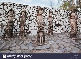 sculptures at rock garden by nek chand saini rock garden of stock