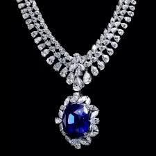 blue diamond necklace gem images 512 best necklaces sapphires blue gems images jpg