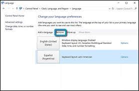 user layout en español hp pcs changing languages windows 10 hp customer support