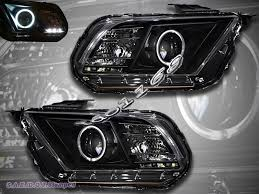 2010 Black Ford Mustang 10 11 12 Ford Mustang Ccfl Halo Angel Eyes Projector Headlights