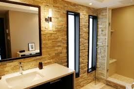 modern brick wall bathroom modern eclectic bathroom with exposed