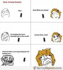 Derp Meme Comic - funny meme comics of derp texting derpina