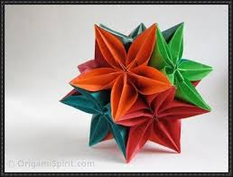 Origami Modular Flower - with the carambola flower modular origami