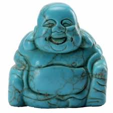 natural turquoise stone natural stone carved laughing buddha my feng shui store