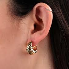 small hoop earrings graduated twist small hoop earrings 14k ben bridge jeweler