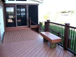 Decks With Benches Built In Composite Deck With Built In Bench And Attached Screened Porch