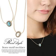 small stone necklace images Outletruckruck grain stone necklace ladies gadgets small jpg