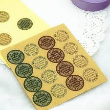 96pc special selected round bakery adhesive seals sticker labels
