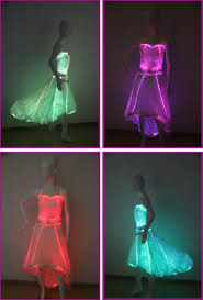 luminous led light up fiber optic clothing led wedding