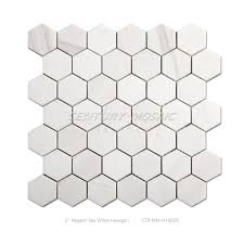 cheap marble hexagon mosaic kitchen backsplash tile buy kitchen