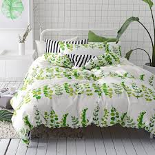 Strandkrypa Ikea Floral Bedding And No I Don U0027t Iron Amazon Com Vclife Queen Bedding Sets Plant Leaves Print Duvet