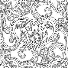 coloring pages henna art coloring pages for adults seamles henna mehndi doodles abstract