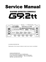 g9 2tt service manual amplifier power supply
