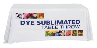 6ft Imprinted Table Cover Custom Table Covers And Table Runners Power Graphics Power Graphics Com