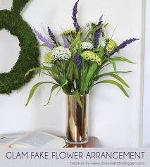 Fake Flower Centerpieces Glam Fake Flower Arrangement Dream A Little Bigger