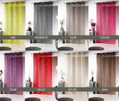 Rideaux Couleur Prune by Rideau Panneau Voile 140 X 240 Cm Argent Silvermoon