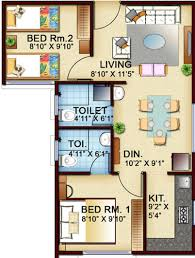 625 sq ft 2 bhk floor plan image town and city developers garden